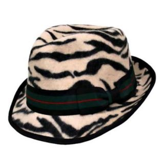Luxury Divas Unique Animal Print Wool Fedora Hat