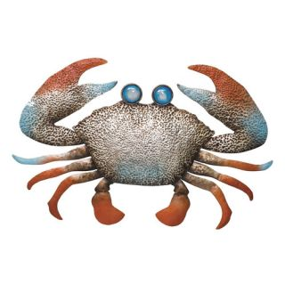 Evergreen Enterprises, Inc Punched Metal Crab Wall Art