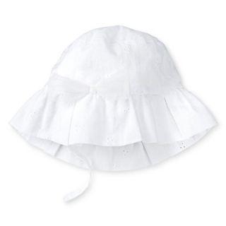 Toddler Girls Eyelet Bucket Hat White