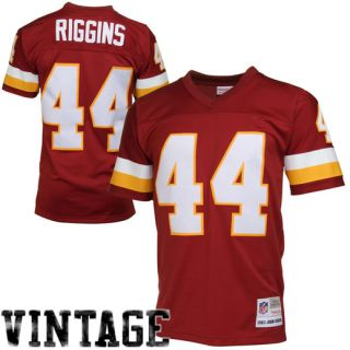 Mitchell & Ness John Riggins Washington Redskins Burgundy Retired Player Vintage Replica Jersey