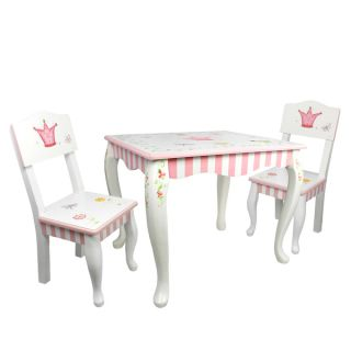 Fantasy Fields Princess and Frog 3 piece Kids Table Set   17577603