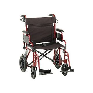 Nova Medical Products Aluminum Transport Chair 22 Red