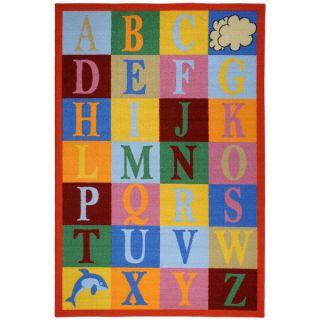 Kids Educational Alphabet Boxes Multicolored Non Skid Area Rug (33 x