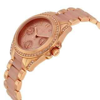 Michael Kors Chronograph Mini Blair Blush and Rose Gold Tone Stainless
