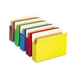 Smead 3.5 Accordion Expansion Colored File Pocket, 5/Pack
