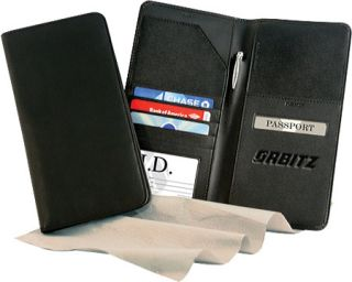 Andrew Phillips Secure Tech Leather Airline Ticket/Passport Case