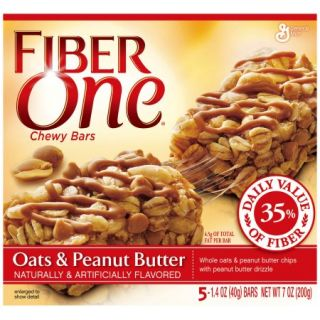 Fiber One® Oats & Peanut Butter Chewy Bars 5 1.4 oz. Wrappers