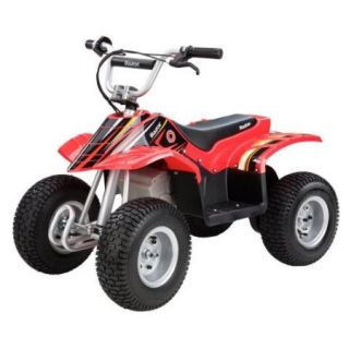 RAZOR 24V Dirt Quad Electric ATV 4 Wheeler   Red/Black