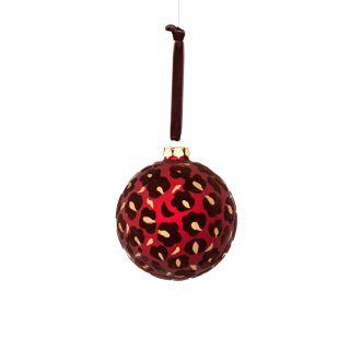 Donna Stevens Glass FlockLeopard Ornament by Sage & Co.