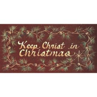 Keep Christ In Christmas Poster Print by Gail Eads (20 x 10)