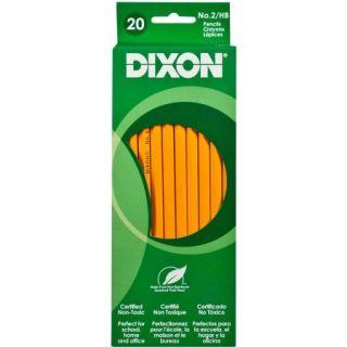 Dixon No. 2 Pencil, Yellow, 20pk