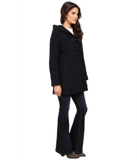 Jessica Simpson Braided Wool Duffle Coat with Hood Navy