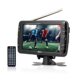 "Axess 7"" LCD TV with ATSC/NTSC Digital Tuner Built in Rechargeable Battery and USB/SD Card Reader"