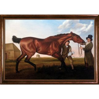 La Pastiche Hambletonian, Rubbing Down by George Stubbs Framed