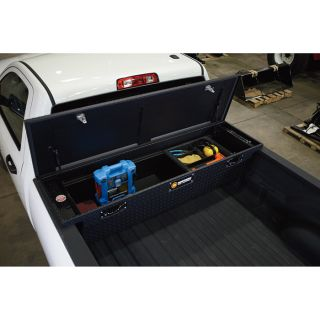 Low Profile Aluminum Crossbed Truck Box — 60in. x 69in. x 11 3/4in. x 13in. x 20in., Matte Black  Crossbed Boxes