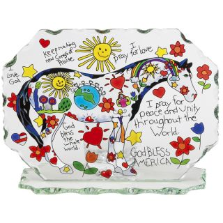 Joan Baker Childrens Prayer Pony Glass Candleware   16148093