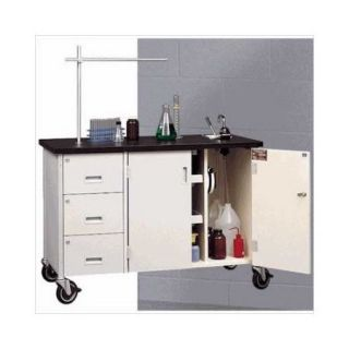 Fleetwood 48'' W Mobile Science Lab Station with Sink and Storage