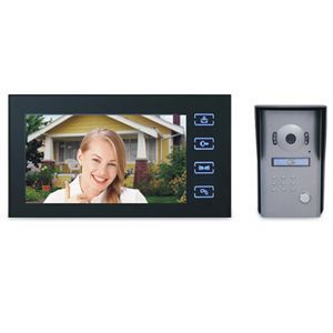 SEQ8806 color video door phone can be used to call, intercom and control both an electronic door lock and an electrically outdoor gate