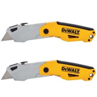 DEWALT Auto Loading Folding Utility Knife (2 Pack) DWHT74475D
