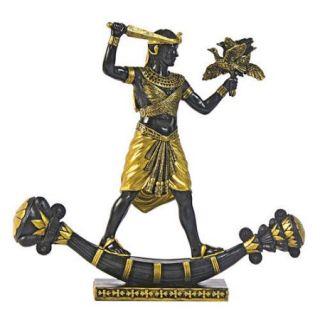 Design Toscano King Tutankhamun Hunting Birds Figurine