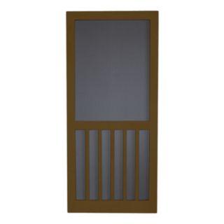Screen Tight 5 Bar Oxford Brown Wood Screen Door (Common: 32 in x 80 in; Actual: 32 in x 80 in)