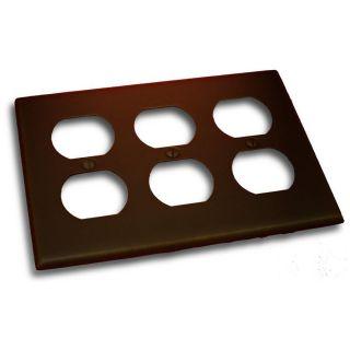 Residential Essentials 3 Gang Venetian Bronze Triple Duplex Wall Plate