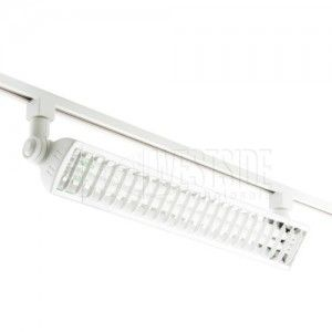 Elco Lighting ETC424W Track Lighting, Line Voltage 2x24W Fluorescent Wall Wash Track Fixture   White