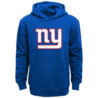 New York Giants Youth Primary Logo Team Color Fleece Pullover Hoodie   Royal Blue