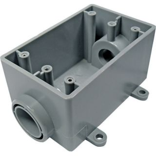 Thomas & Betts 1in 1 Gang Outdoor PVC Outlet Box (5133463U)   Metal / PVC Weatherproof Boxes