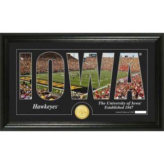 University of Iowa Silhouette Bronze Coin Panoramic Photo Mint