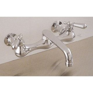 Sign of the Crab P0829 Wall Mount Kitchen Faucet with 6 Spout