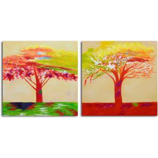 Tree of Sunset Original Painting on Canvas   Set of 2   17206710