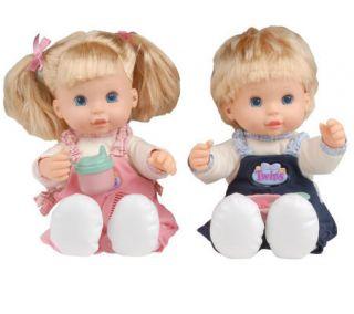 Too Cute Interactive Talking Twin Dolls w/Accessories —
