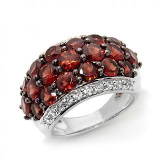 """Colleen Lopez """"Mulberry Kiss"""" 6.3ctw Garnet and White Zircon Sterling Silver Do   7631083"""