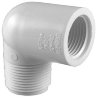Charlotte Pipe 1/2 in. PVC Sch. 40 90 Degree MPT x FPT Street Elbow PVC023070600HD