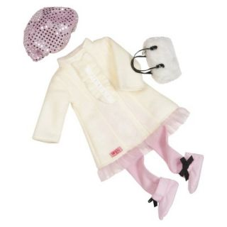 Our Generation 18 Deluxe Doll Outfit   Ruffle Peacoat