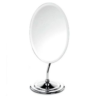 Danielle Belle Oval Rimless Mirror with Curved Stem   11722353
