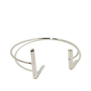 Danielle Nicole Howlite Double Bar Wire Cuff Bracelet   7890420