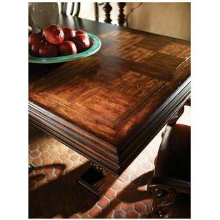 Stanley Furniture 971 11 36 Costa Del Sol Palazzo Principale Marquetry Trestle Dining Table in Dark Woodtone