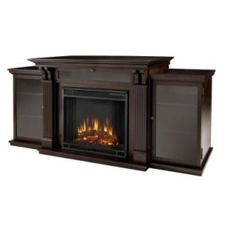 Real Flame Calie Entertainment 67 in. Media Console Electric Fireplace in Dark Walnut 7720E DW