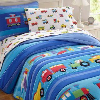 Olive Kids Trains, Planes and Trucks Full Bedding Comforter Set