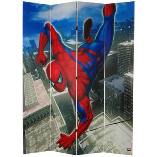 Oriental Furniture 84 x 68 Tall Double Sided Spider Man Wall Crawler