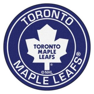 FANMATS NHL Toronto Maple Leafs Navy 2 ft. 3 in. x 2 ft. 3 in. Round Accent Rug 18888