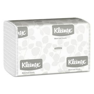 Kimberly Clark Professional   KLEENEX Multifold Paper Towels, 9 1/5 x 9 2/5, White, 150/Pack    16 Packs/Carton