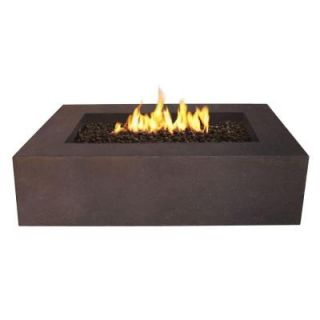 Real Flame Baltic 51 in. Rectangle Propane Gas Outdoor Fire Pit in Kodiak Brown T9650LP KB