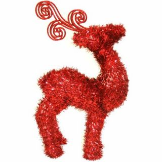 "16"" 3D Tinsel Deer Decoration"