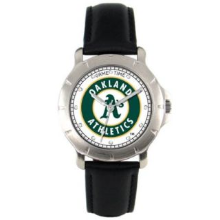 Oakland A's Leather Band Players Watch