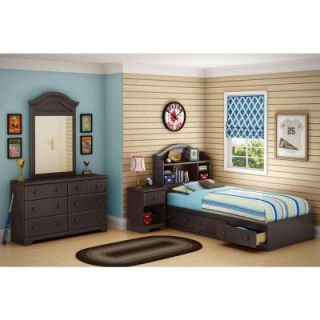 South Shore Summer Breeze Twin Storage Bed in Chocolate 3219080