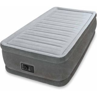 """Intex Twin 18"""" Elevated Premium Comfort Airbed Mattress with Built in Pump"""