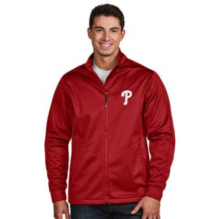Philadelphia Phillies Antigua Golf Full Zip Jacket   Red